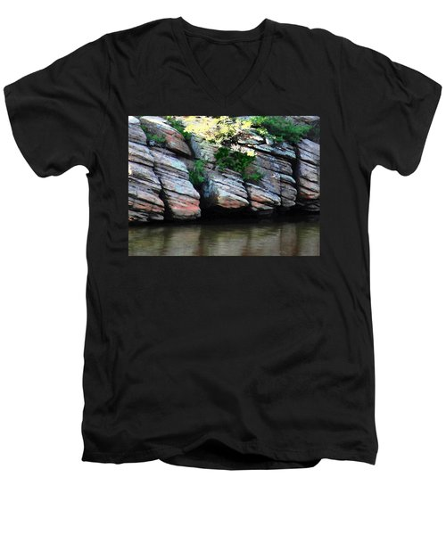 Sliced Rock Men's V-Neck T-Shirt
