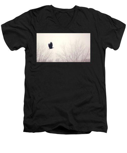 Slicing Through The Fog Men's V-Neck T-Shirt by Melanie Lankford Photography