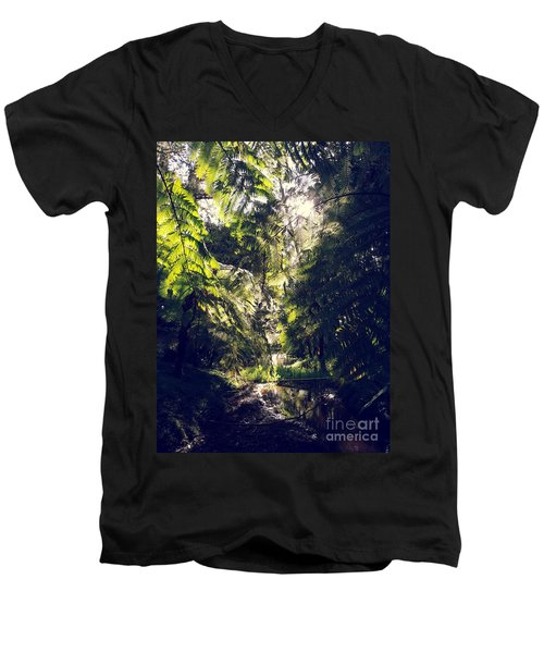 Men's V-Neck T-Shirt featuring the photograph Slight Tremble by Rushan Ruzaick