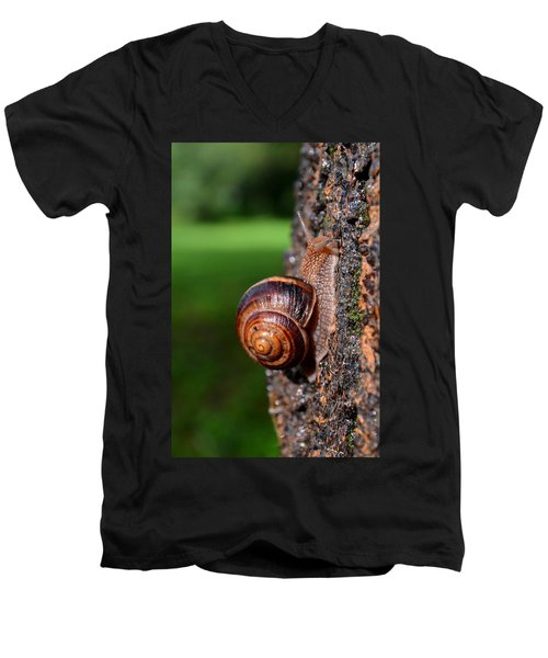Slowly And Surely Men's V-Neck T-Shirt