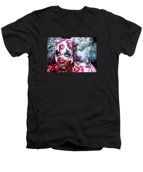 Men's V-Neck T-Shirt featuring the photograph Sly Death by Stwayne Keubrick