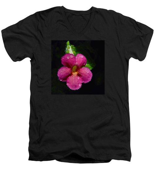Small Beauty Men's V-Neck T-Shirt by Jocelyn Kahawai