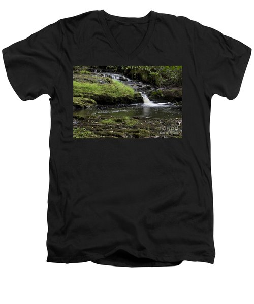 Small Falls On West Beaver Creek Men's V-Neck T-Shirt by Kathy McClure