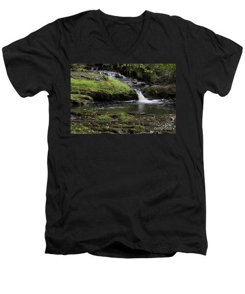 Small Falls On West Beaver Creek Men's V-Neck T-Shirt