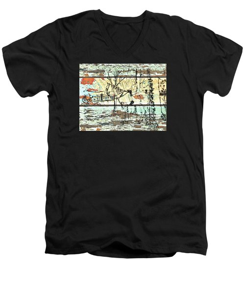 His First Horse  Men's V-Neck T-Shirt by Larry Campbell