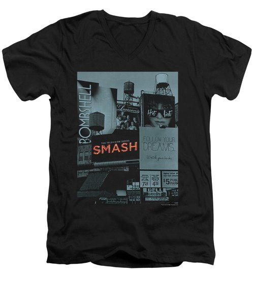 Smash - Billboards Men's V-Neck T-Shirt by Brand A