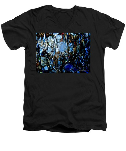 Men's V-Neck T-Shirt featuring the photograph Smashed by Cynthia Lagoudakis