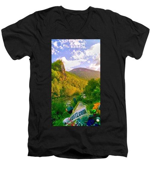 Smoke Hole Canyon Men's V-Neck T-Shirt