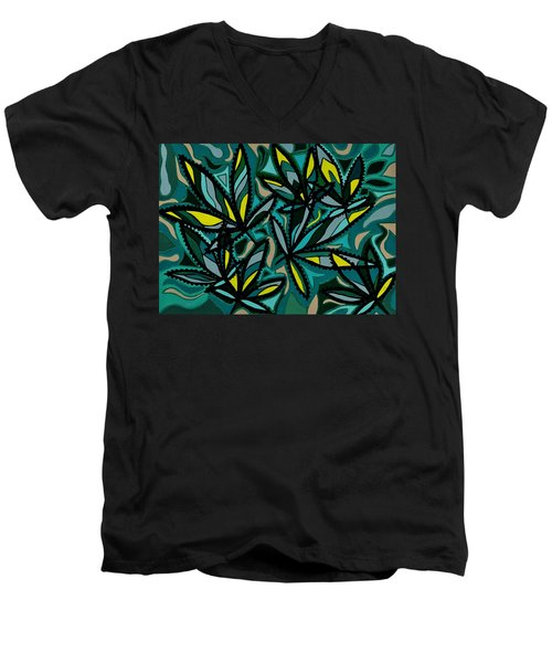 Smoke On The Water Men's V-Neck T-Shirt by Barbara St Jean