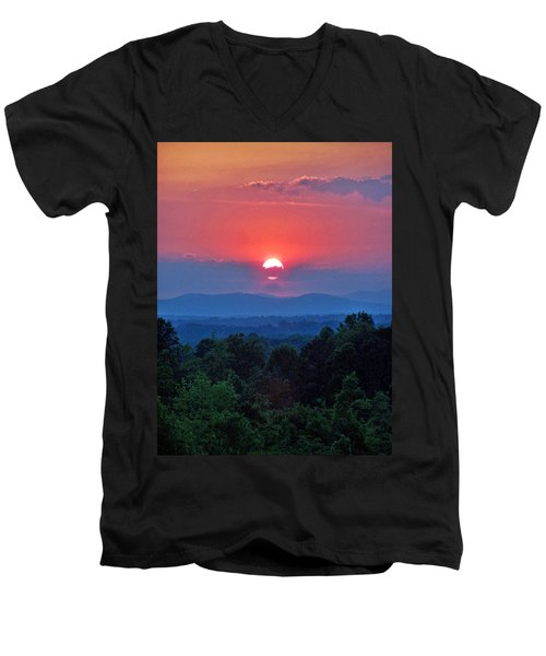 Smokey Mtn Sunset Men's V-Neck T-Shirt