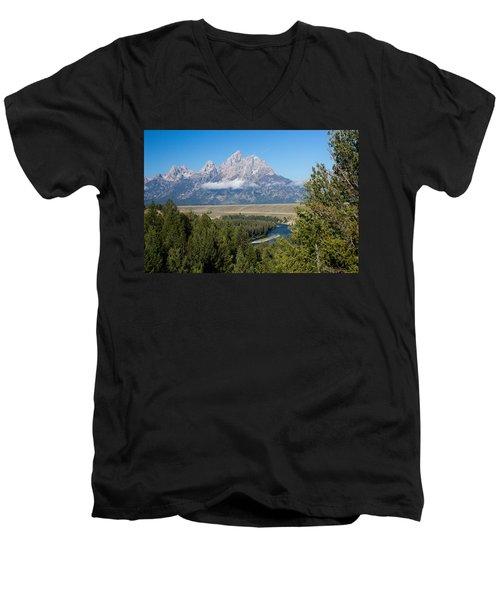 Snake River Overlook Men's V-Neck T-Shirt