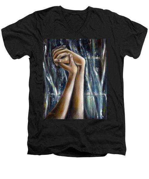 Snow Light Men's V-Neck T-Shirt