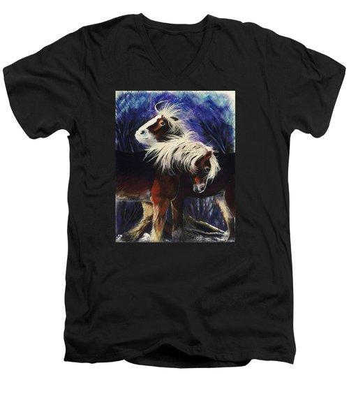 Snow Ponies Men's V-Neck T-Shirt