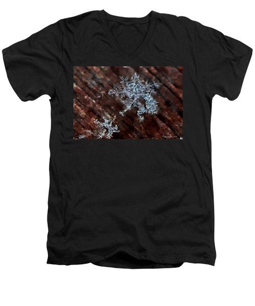 Snowflake Men's V-Neck T-Shirt
