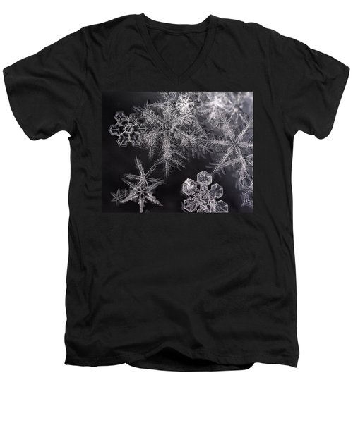 Snowflakes Men's V-Neck T-Shirt