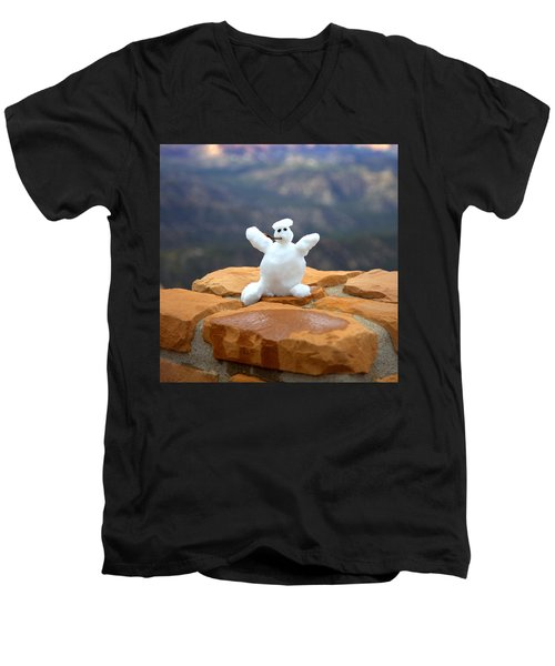 Snowman At Bryce - Square Men's V-Neck T-Shirt