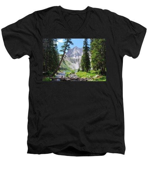 Snowmass Peak Landscape Men's V-Neck T-Shirt