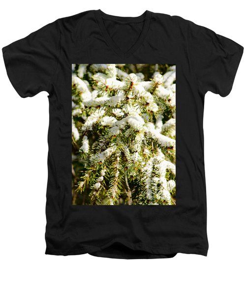 Snowy Pines Men's V-Neck T-Shirt