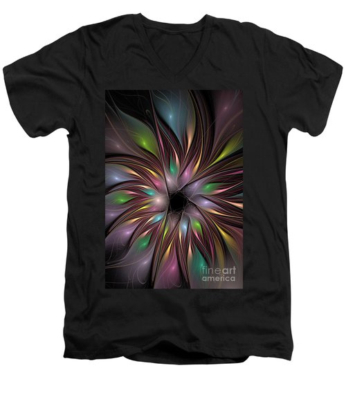 Soft Colors Of The Rainbow Men's V-Neck T-Shirt