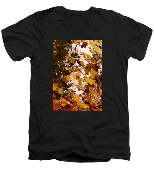 Men's V-Neck T-Shirt featuring the photograph Soft Landing by Photographic Arts And Design Studio