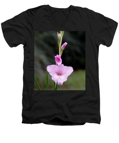 Soft Pink Glad Men's V-Neck T-Shirt