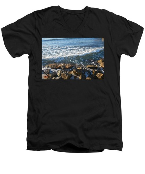 Soft Waves Men's V-Neck T-Shirt