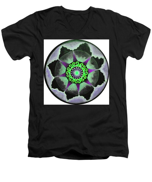 Solar Soul Purple Sky Men's V-Neck T-Shirt by Patricia Arroyo