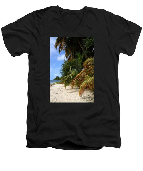 Men's V-Neck T-Shirt featuring the photograph Nude Beach by The Art of Alice Terrill