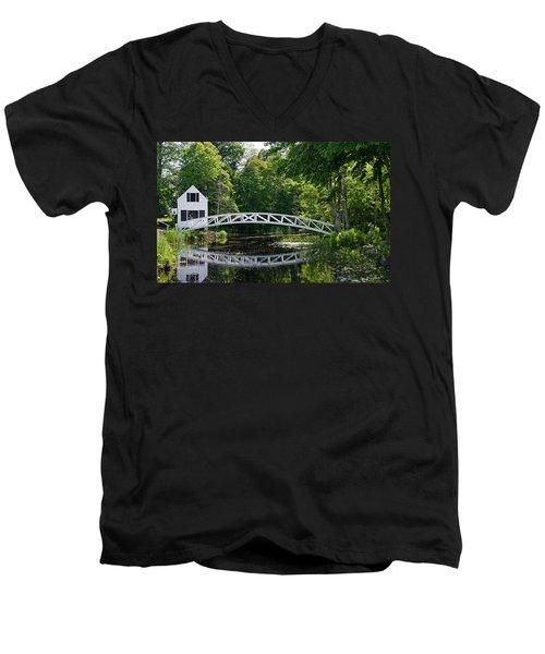 Somesville Bridge Men's V-Neck T-Shirt