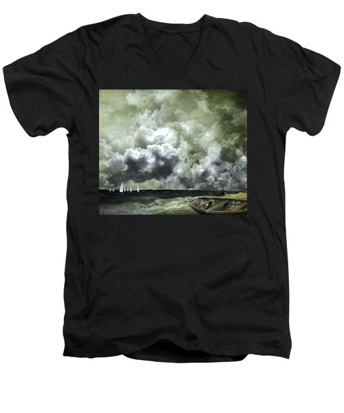 Sometimes Your Luck Runs Out Men's V-Neck T-Shirt by Jeff Burgess