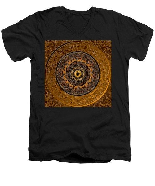 Song Of Heaven Mandala Men's V-Neck T-Shirt by Michele Avanti