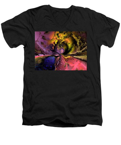 Song Of The Cosmos Men's V-Neck T-Shirt by Claude McCoy