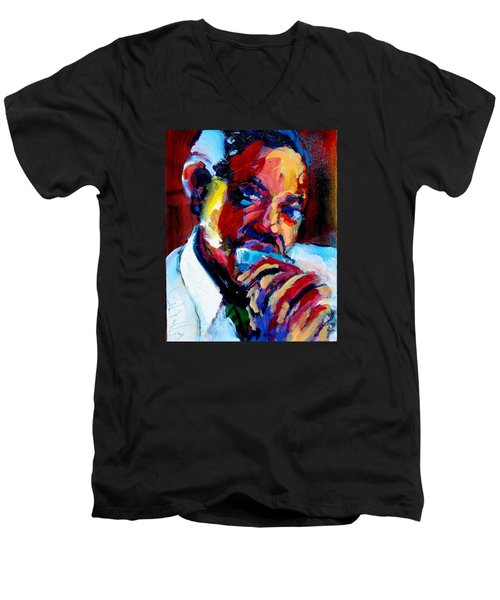 Sonny Boy Men's V-Neck T-Shirt by Les Leffingwell