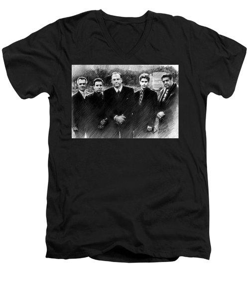 Sopranos James Gandolfini Men's V-Neck T-Shirt