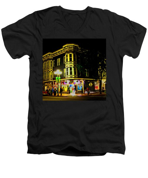 Southern California Streets At Sunset Men's V-Neck T-Shirt