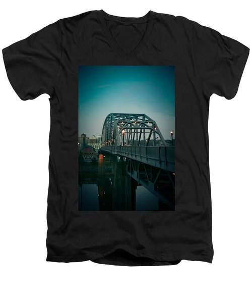 Southside Bridge  Men's V-Neck T-Shirt by Shane Holsclaw