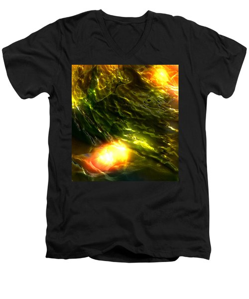 Men's V-Neck T-Shirt featuring the photograph Space Fall by Richard Thomas