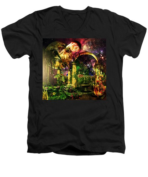 Space Garden Men's V-Neck T-Shirt