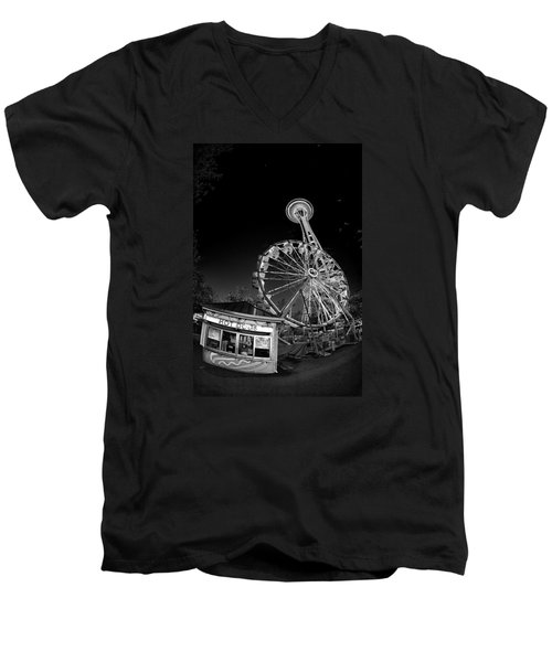 Space Needle Fights The End Of The World Men's V-Neck T-Shirt