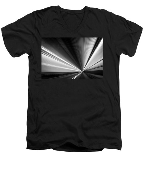 Men's V-Neck T-Shirt featuring the photograph Space-time Continuum by Mihai Andritoiu
