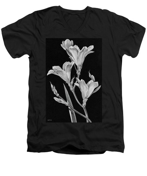 Sparaxis Flowers Men's V-Neck T-Shirt