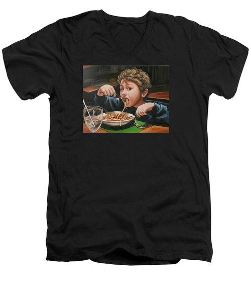 Spaghetti Boy Men's V-Neck T-Shirt
