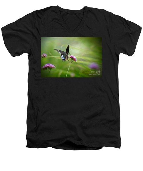 Spicebush Swallowtail Butterfly Men's V-Neck T-Shirt