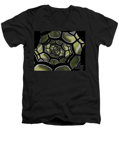 Men's V-Neck T-Shirt featuring the photograph Spider's Web. by Clare Bambers