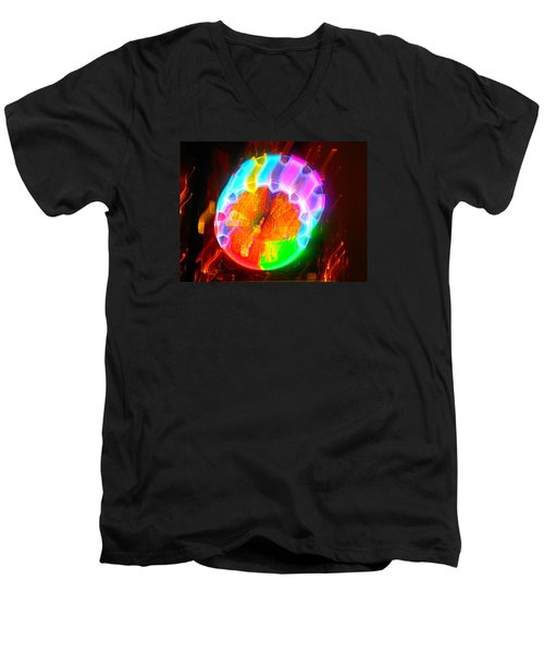 Spinning Orb In The Cosmos Men's V-Neck T-Shirt