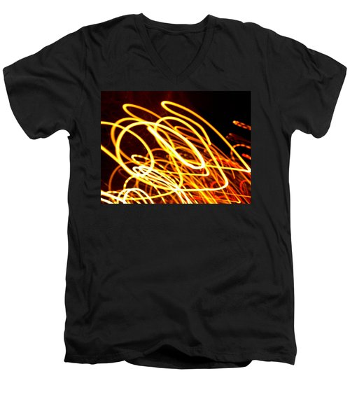 Spiral Light Among Dwellers About The City 2 Men's V-Neck T-Shirt