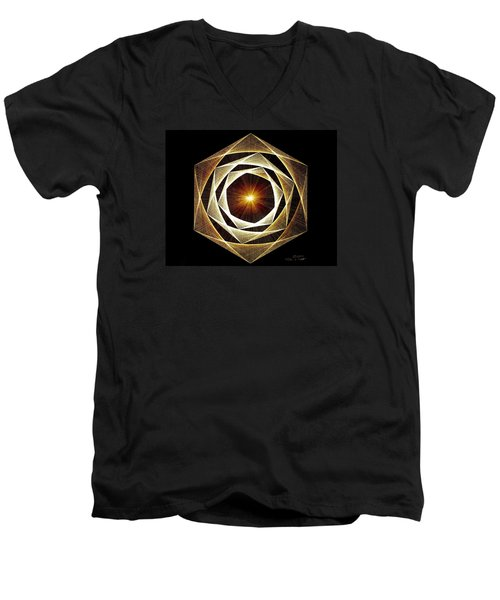 Spiral Scalar Men's V-Neck T-Shirt by Jason Padgett