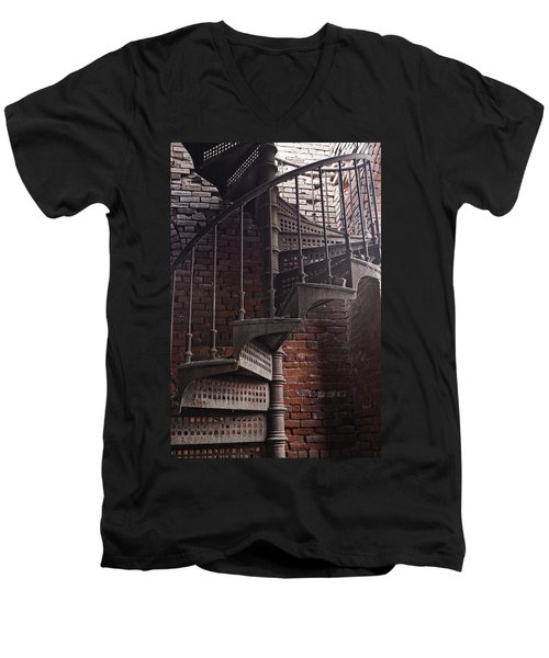 Spiral Staircase Depot Men's V-Neck T-Shirt