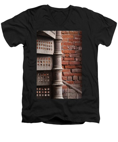 Spiral Staircase  Men's V-Neck T-Shirt