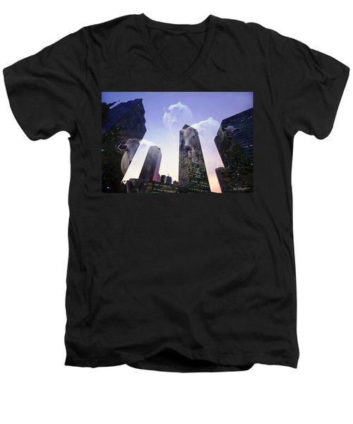 Men's V-Neck T-Shirt featuring the photograph Spirit Of Texas by David Perry Lawrence